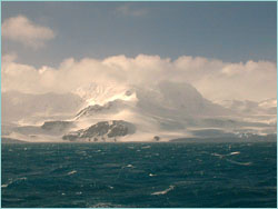 Elephant Island with snow
