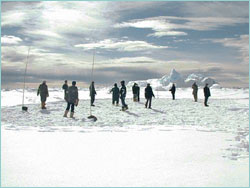 Football on the floe