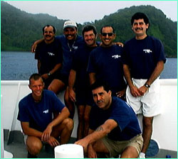 The crew of the Undersea Hunter