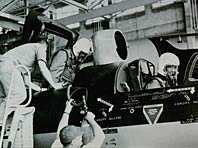 Pilots entering U-2 cockpit