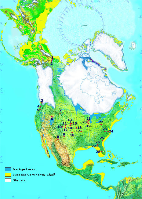 map of Bering land bridge