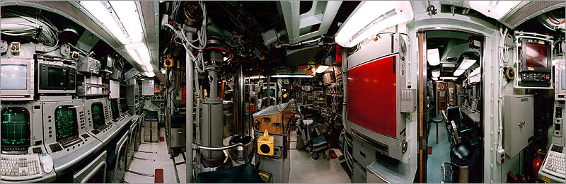 Panorama of USS Springfield Control Room