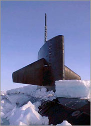 USS Hawkbill in polar ice