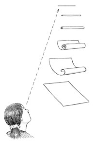 Illustration of rolled-up paper tube
