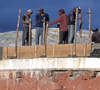 Workers on roof