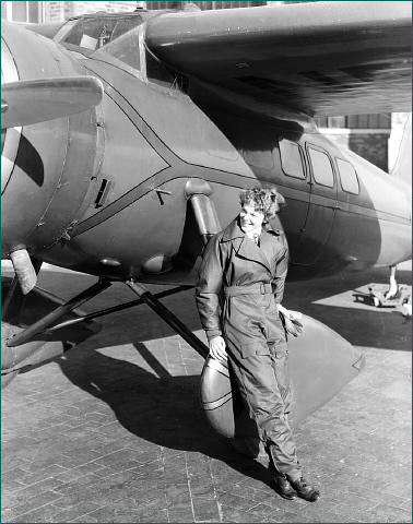 Earhart and plane