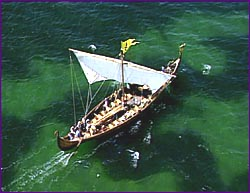 """A Viking Long Ship.  Click the photo to visit the """"Secrets of Norse Ships"""" page!"""