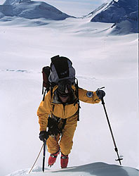 Expedition leader Conrad Anker on the eastern flank of Vinson