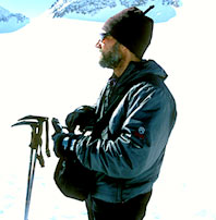 Krakauer with ski poles