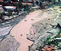 Mudflow damage