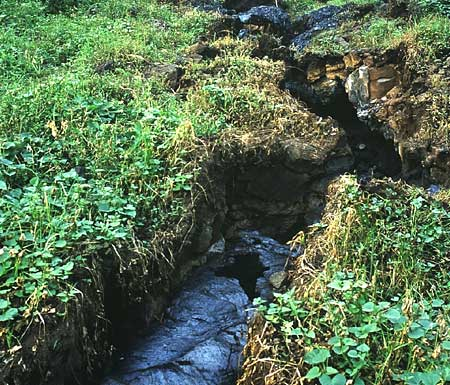 Figure 6 - Fissure near Nyiragongo.(13)
