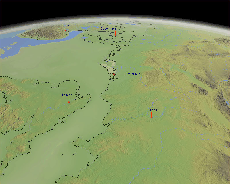 Northern Europe, 20,000 years ago