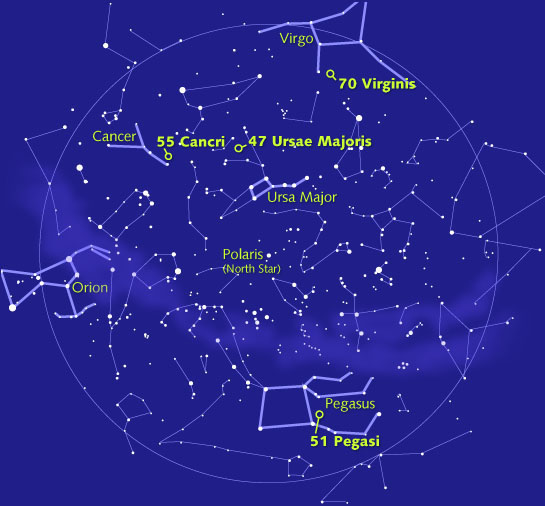 simplified sky chart from sky telescope magazine for the complete
