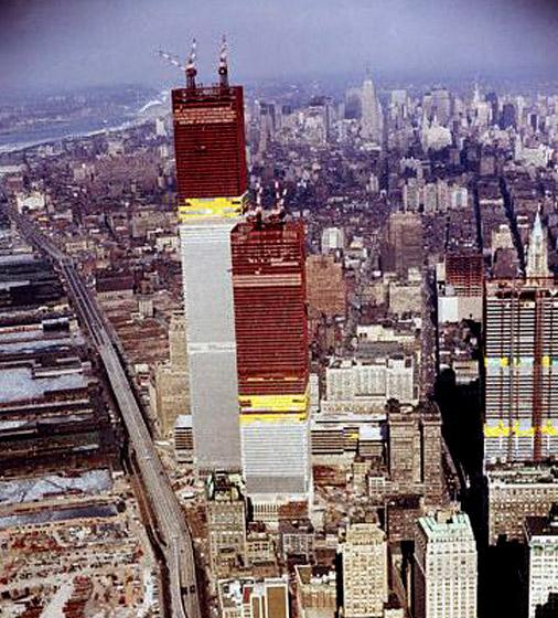 world trade center construction photos