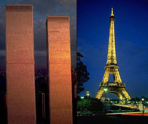 Eiffel Tower and WTC