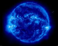 Ultraviolet image of sun's corona