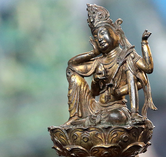 Early 15th-Century Chinese Bodhisattva Gilt Bronze