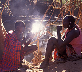 Honey hunters in Kenya