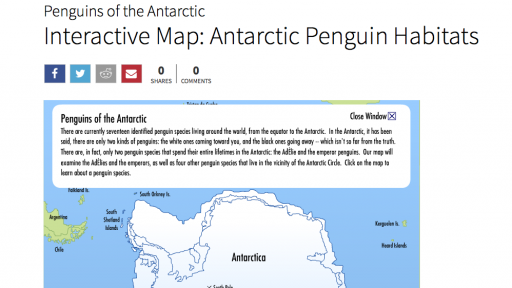 Interactive Map: Antarctic Penguin Habitats