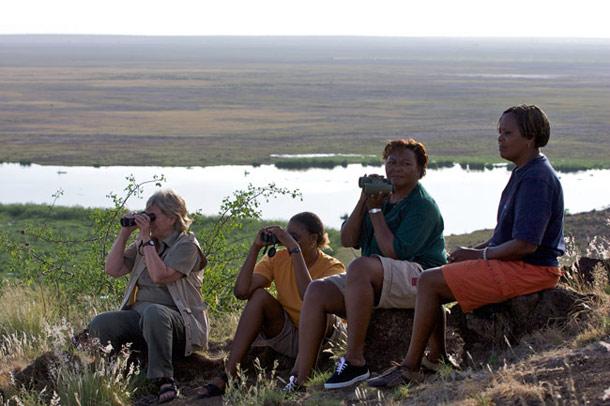 Amboseli Trust for Elephants Team Cynthia, Soila, Nora, and Katito