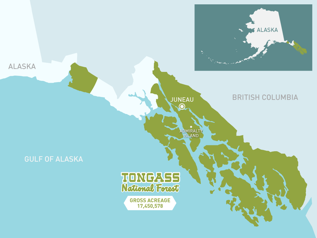 Fortress Of The Bears Map Of The Tongass Nature PBS - Map of us national forest