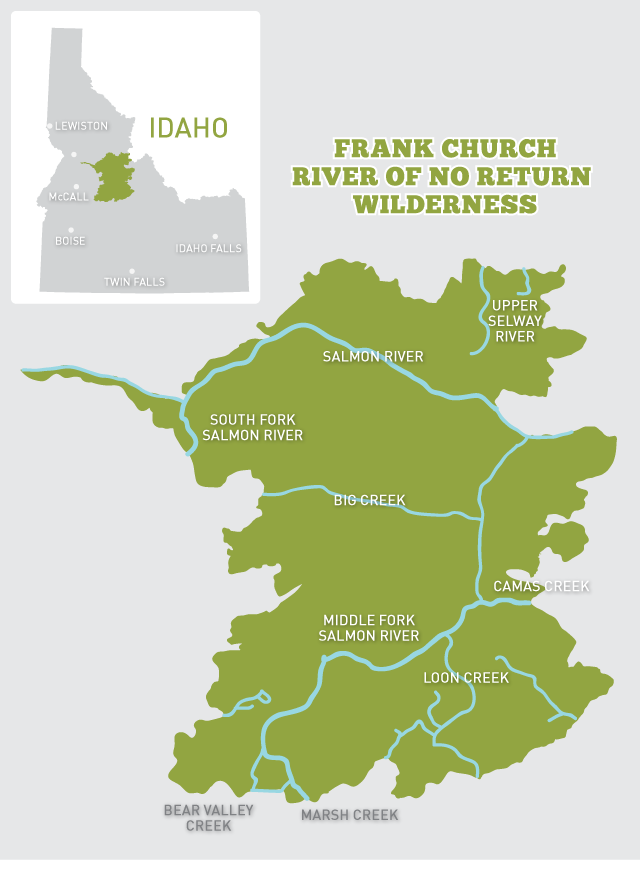 idaho wilderness areas map River Of No Return Frank Church River Of No Return Wilderness Map Nature Pbs idaho wilderness areas map