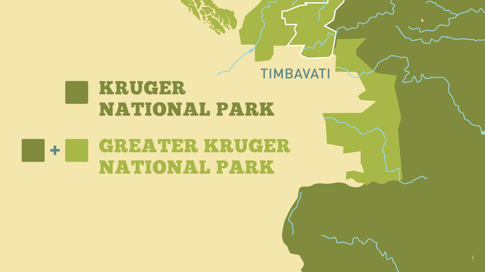 The White Lions   Map of Kruger National Park   Nature   PBS