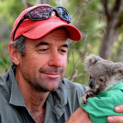 Dr. Bill Ellis with Koala