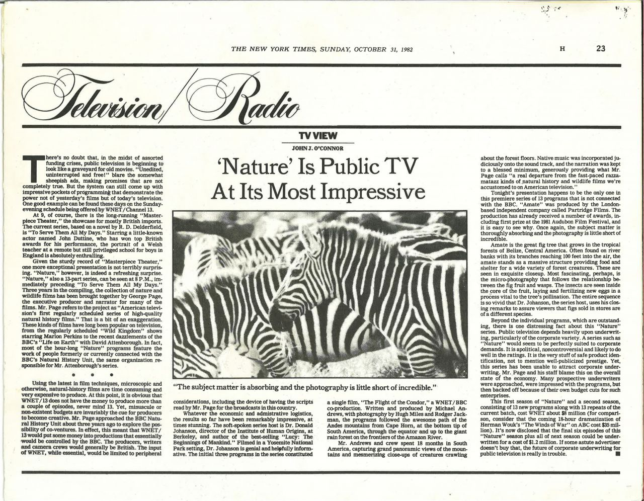 NY Times Nature Review