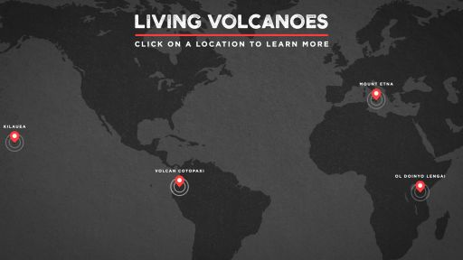 Explore an Interactive Volcano Map