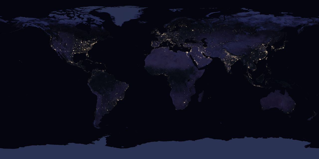 Image of Earth at night