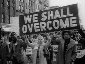 We Shall Overcome banner
