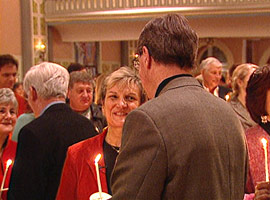 Kathy and Jack Berkemeyer renewing their vows at the Mass for Lovers