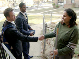 Young Mormon missionaries