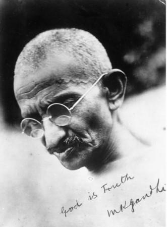 Gandhi's Autograph