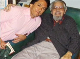 Albom with Rabbi Albert Lewis
