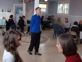 Ellmann conducting a group session