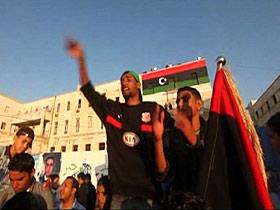 Protesters celebrate in Libya