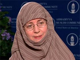 Saliha Malik, National President, Ahmadiyya Muslim Community USA Women's Auxiliary