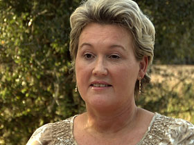 Cathleen Kwas, an evangelical voter in Florida who supports Romney