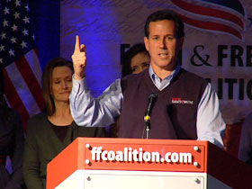 Senator Rick Santorum speaking at the Faith and Freedom Coalition conference