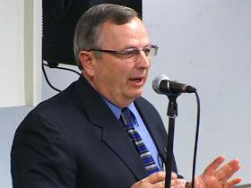 Prof. Brad Young speaking at Oral Roberts University