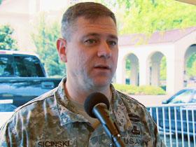 Colonel Stephen Sicinski, Fort Bragg base commander