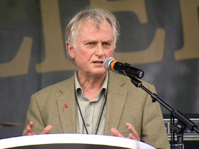Atheist writer Richard Dawkins speaking at Rock Beyond Belief
