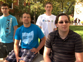 Brian Crisan and other members of University of Akron's Secular Student Alliance