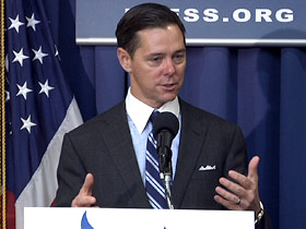 Ralph Reed speaking at the National Press Club