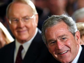 Dobson with President George W. Bush