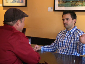 Rajeev Shaw meets with one of Colorado Springs' best known liberals