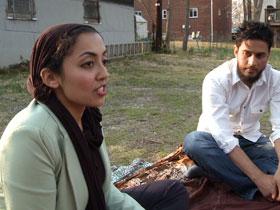 Sarah Jawaid at Green Muslim meeting