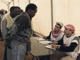 Jordan refugee camp